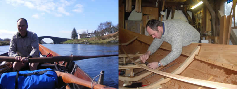 Charles Lyster rowing to Bridge over the Atlantic, Charles Lyster, boatbuilder, fitting frame